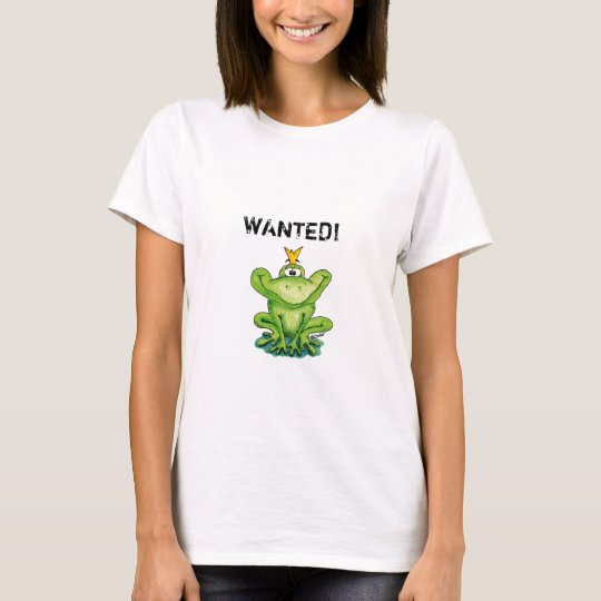 Wanted Shirt for Single - Cute Prince Frog