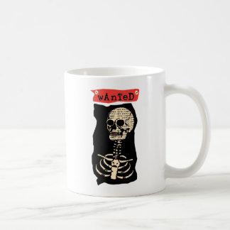 Wanted Skeleton Coffee Mug