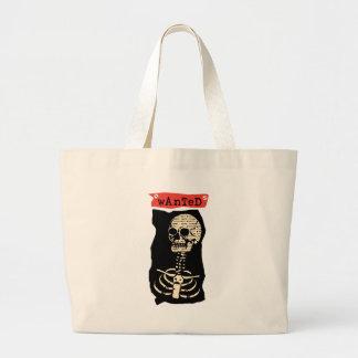 Wanted Skeleton Large Tote Bag