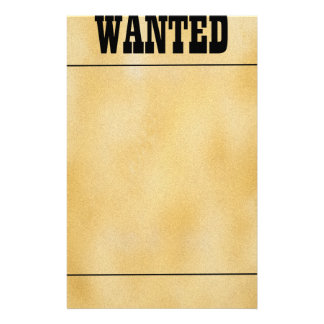 Wanted Stationery