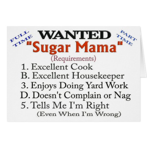 sugar momma wanted