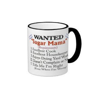 Wanted - Sugar Mama Ringer Mug