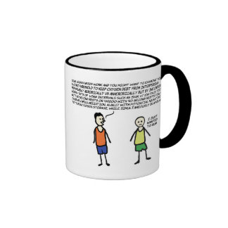 Wanted To Run Ringer Coffee Mug