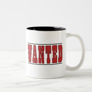 Wanted Two-Tone Coffee Mug