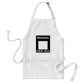 Wanted White The MUSEUM Zazzle Gifts Adult Apron