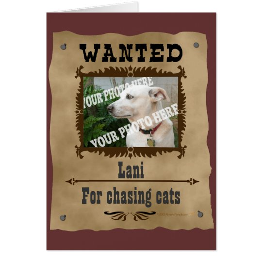 Wanted Wild West Poster Pet Custom Photo Template