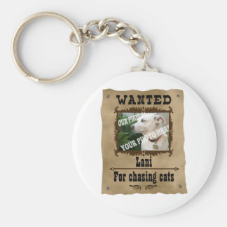 Wanted Wild West Poster Pet Custom Photo Template Basic Round Button Keychain