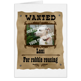 Wanted Wild West Poster Pet Custom Photo Template Card