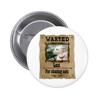 Wanted Wild West Poster Pet Custom Photo Template Pinback Button