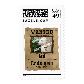 Wanted Wild West Poster Pet Custom Photo Template Postage