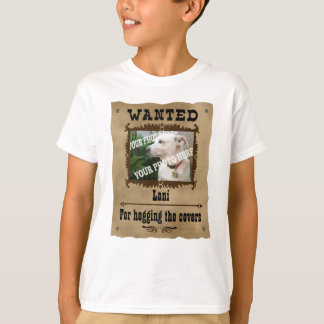 Wanted Wild West Poster Pet Custom Photo Template T-Shirt