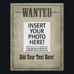 "WANTED Wild West vintage Poster<br><div class=""desc"">You can customize this poster and resize it! INVITATIONS ALSO AVAILABLE</div>"