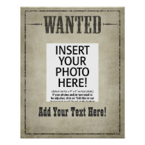 WANTED Wild West vintage Poster