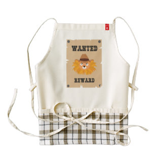 Wanted Wildwest lion poster Ztg7j Zazzle HEART Apron