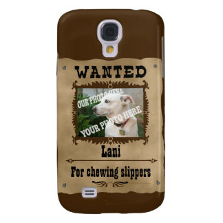 Wanted WildWest Poster Custom Photo Speck Template Galaxy S4 Covers