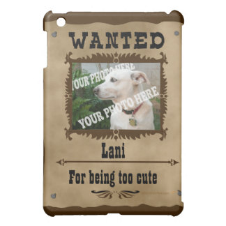 Wanted WildWest Poster Custom Photo Speck Template iPad Mini Cases