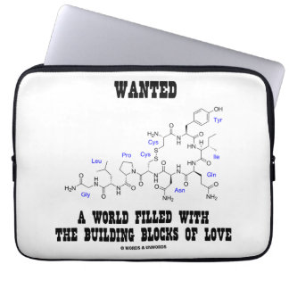 Wanted World Filled Building Blocks Love Oxytocin Laptop Sleeve