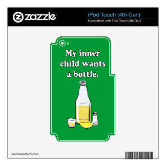 WANTS A BOTTLE 2 DECAL FOR iPod TOUCH 4G