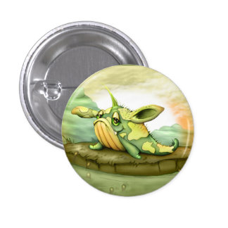 WAOU ALIEN MONSTER  CARTOON Round Button
