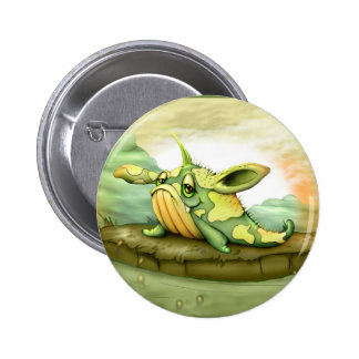 WAOU ALIEN MONSTER  CARTOON Standard, 2¼ Inch Pinback Button