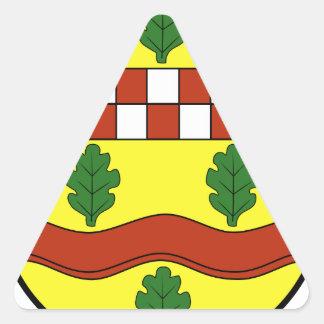 Wappen von Bundorf Pegatinas Triangulo