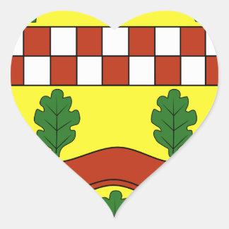 Wappen von Bundorf Calcomanía De Corazón Personalizadas