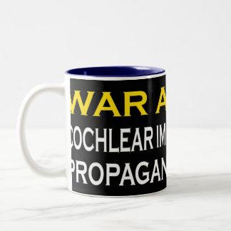 War Against CI Industry Propaganda Machine Two-Tone Coffee Mug