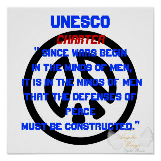 War And Peace Message By UNESCO -Customize Poster