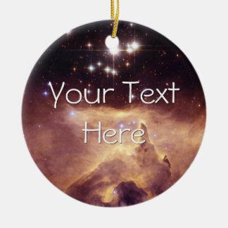 War and Peace Nebula Ceramic Ornament