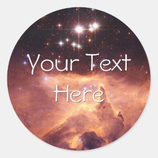 War and Peace Nebula Classic Round Sticker