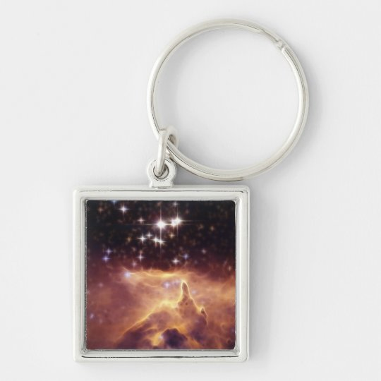 War and peace NGC6357 symbolic Keychain