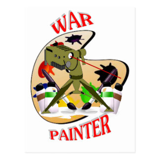 WAR ARTIST POSTCARD