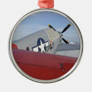 War Bird Round Metal Christmas Ornament