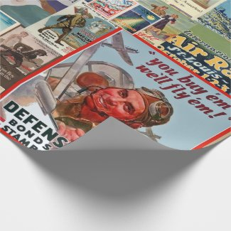 War Bond Vintage Collage Wrapping Paper
