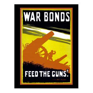 War Bonds ~ Feed The Guns Postcard