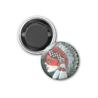 """""""War Bonnet"""" 1 Inch Round Magnet"""