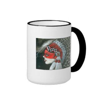 """""""War Bonnet"""" Ringer Mug"""