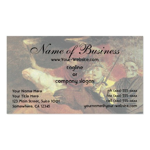 War by Arnold Bocklin Business Card Template