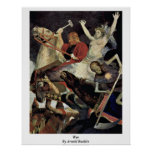 War By Arnold Bocklin Posters
