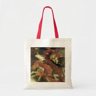 War by Arnold Bocklin, Vintage Symbolism Fine Art Budget Tote Bag