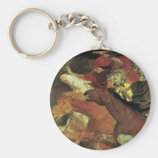 War by Arnold Bocklin, Vintage Symbolism Fine Art Keychain