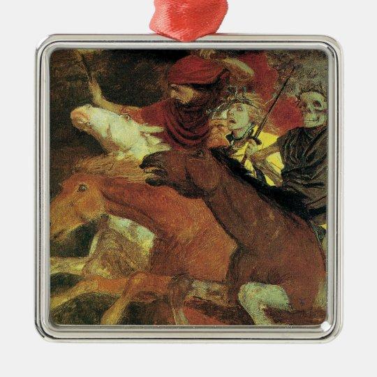 War by Arnold Bocklin, Vintage Symbolism Fine Art Metal Ornament