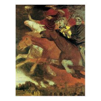 War by Arnold Bocklin, Vintage Symbolism Fine Art Postcards