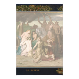 War by Pierre Puvis de Chavannes Flyer