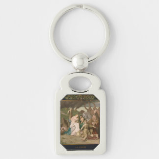 War by Pierre Puvis de Chavannes Key Chains