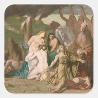 War by Pierre Puvis de Chavannes Stickers