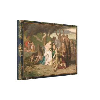 War by Puvis de Chavannes Stretched Canvas Prints
