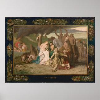 War by Puvis de Chavannes Poster
