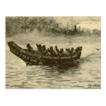 war canoe postcard