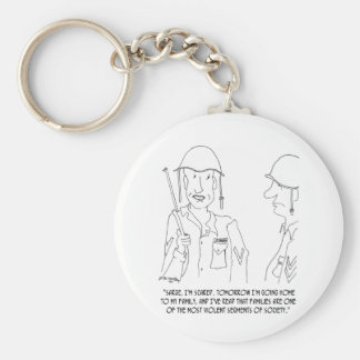 War Cartoon 0343 Keychain
